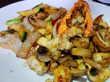 Hibachi Lobster Dinner