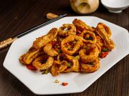 Spicy Fried Calamari Rings