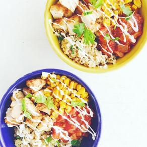 1 minute quinoa burrito bowl