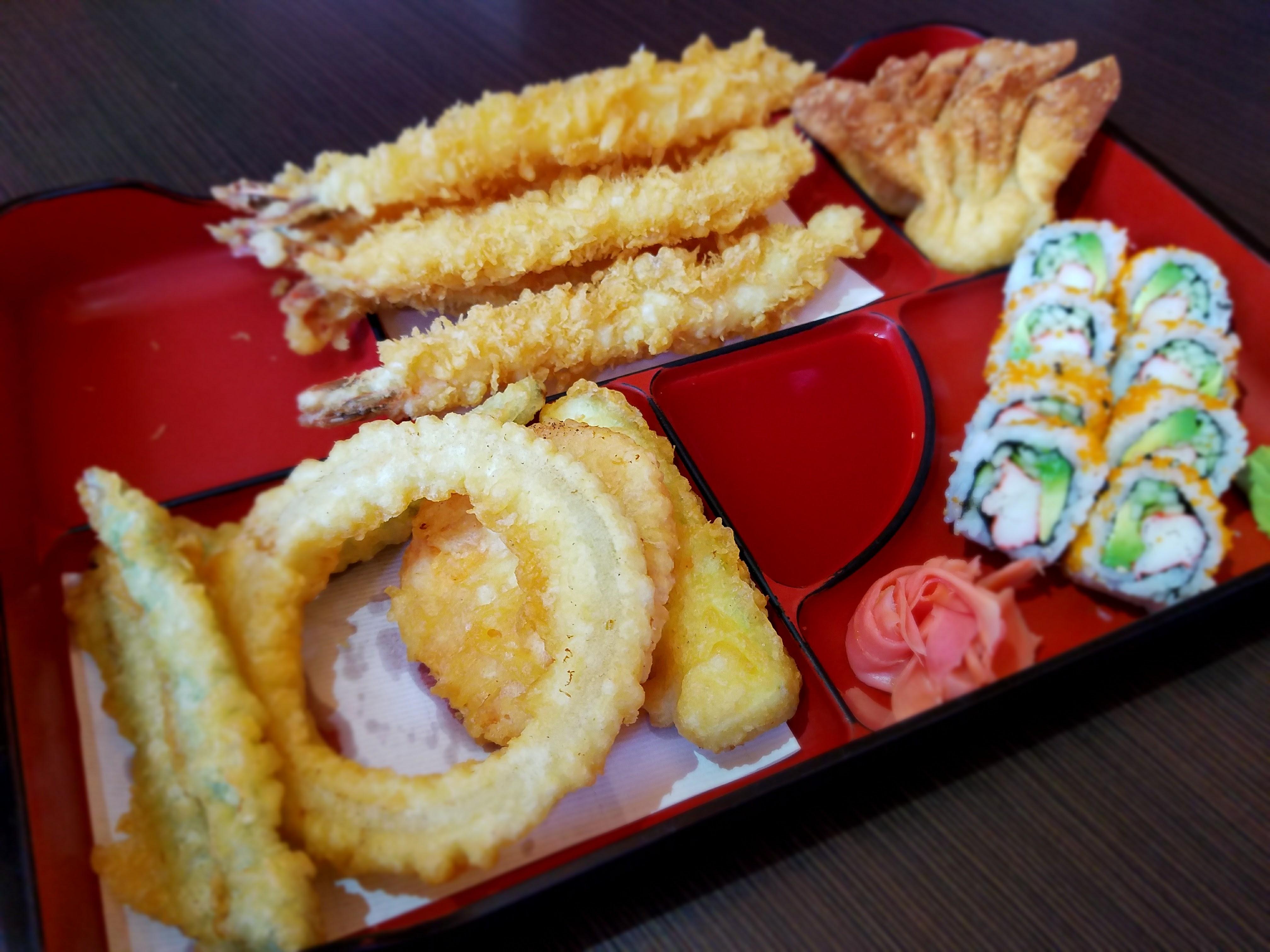 Bento, Shrimp Tempura