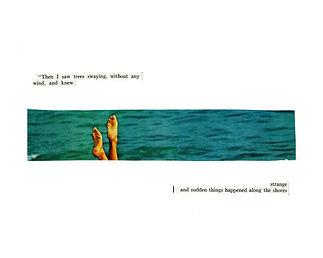 strange shores - collage from vintage images
