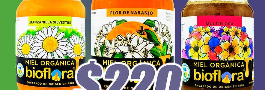 Miel Orgánica Bioflora 1200gr