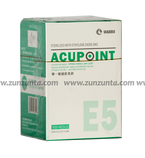"Agujas para Acupuntura Acupoint de ""HBW"" Acero E5 500 pzs"