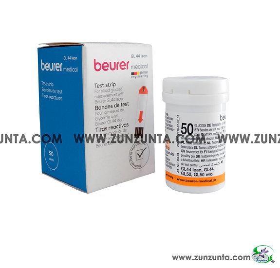 Tiras Reactivas para Glucómetro Beurer GL44