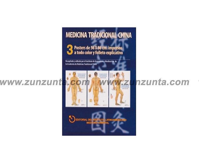 3 Posters de acupuntura