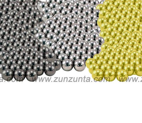 2000 Balines a granel de 1mm acero, oro o plata