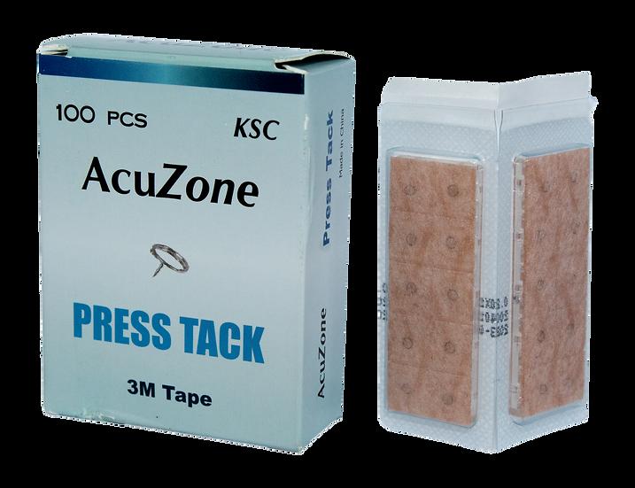 """Caja con 100 Tachuelas """"Acuzone"""" (auriculares con parche micropore piel)"""