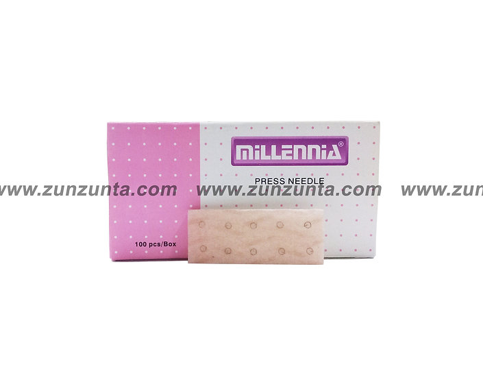 Tachuela en parche Millennia, color piel, 100 pz