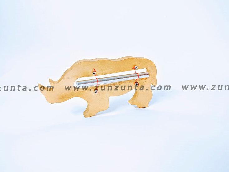 Diapasón armonizador en forma de Rinoceronte