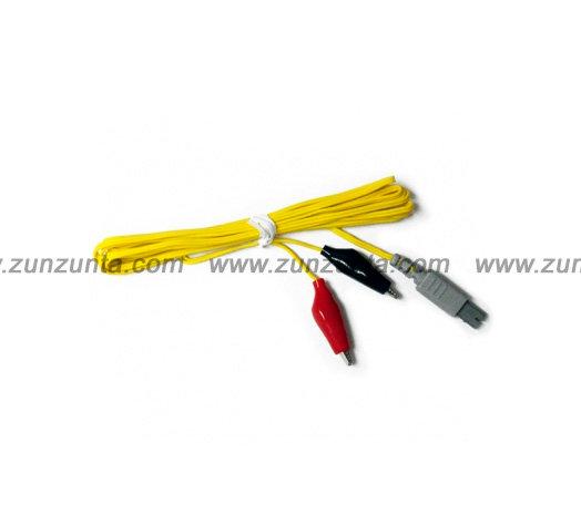 Cable caimán para electro estimulador KWD 808 marca Muralla de caja amarilla