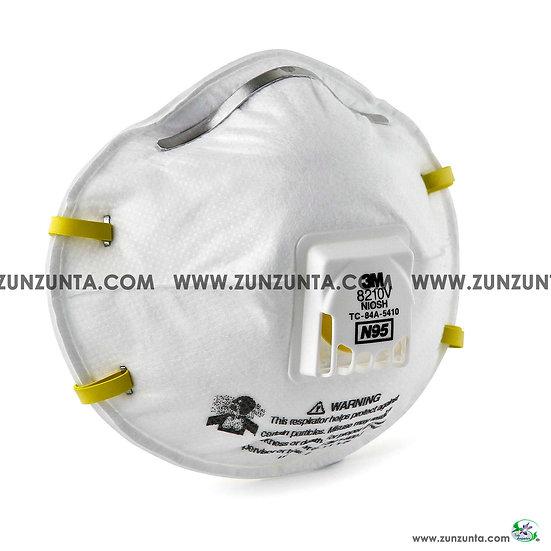 Respirador, cubrebocas 3M, N95, con Válvula,