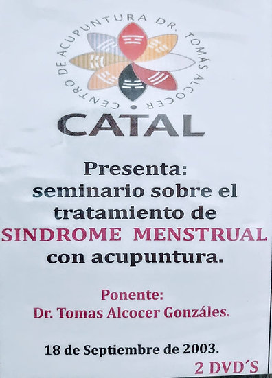 DVD Seminario Sobre tratamiento Síndrome Menstrual