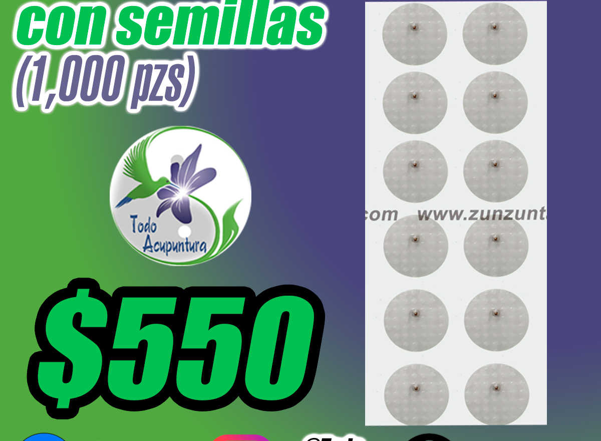 Parche transparente con Semillas (1000 pzs)