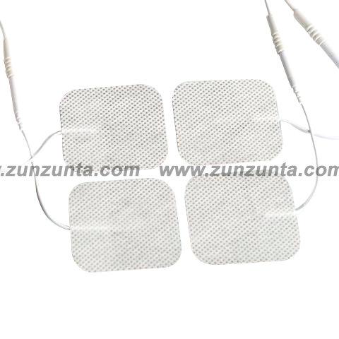 4 Electrodos para electro estimulador KWD 808 marca La Muralla de caja amarilla
