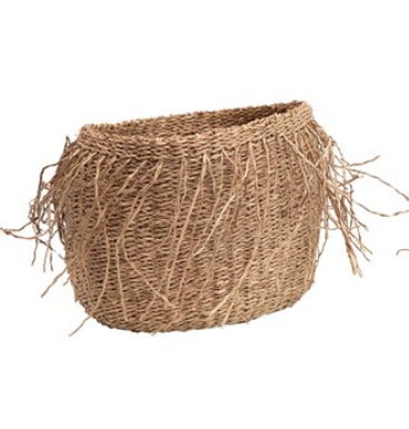 Hand-Woven Seagrass Baskets w/ Fringe