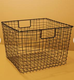 Black Wire Basket Large