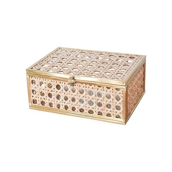 Natural Cane SmallWicker  Decor Box