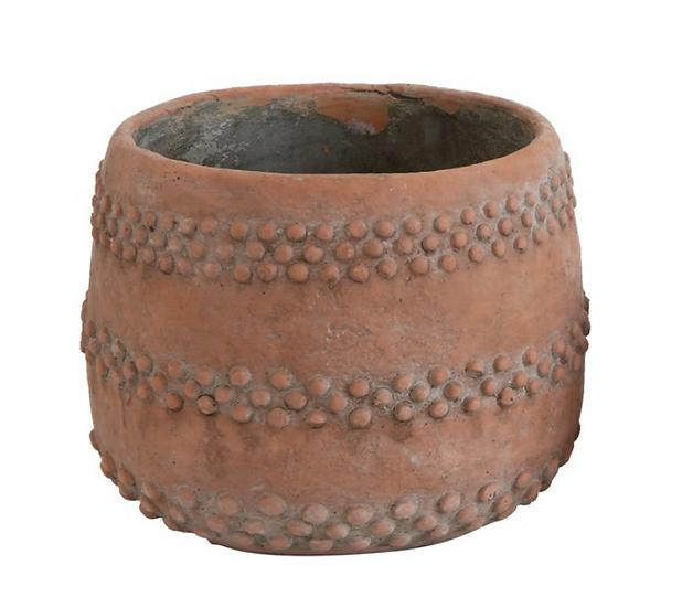 Cement Pot, Terra-cotta Color