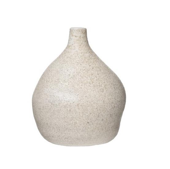 Terra-cotta Vase, Distressed Cream Glaze