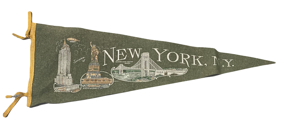 Vintage New York Felt Flag
