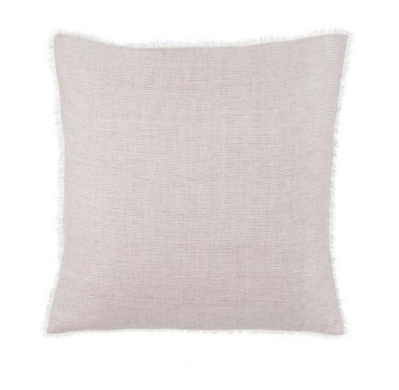 24x24 Linen Pillow, Gray Stripe