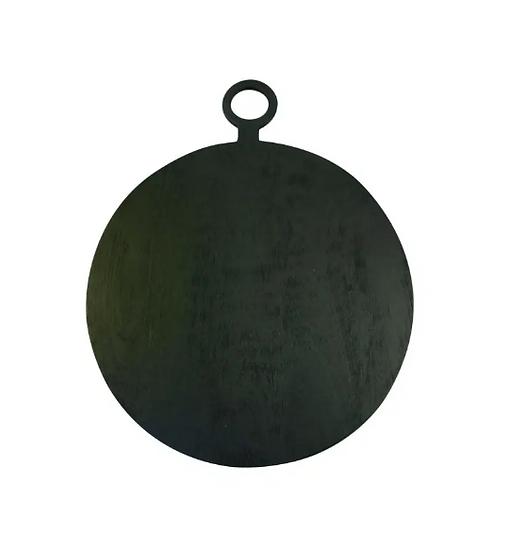 Black Mango Wood Round Board Medium