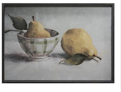 Framed Wall Decor w/ Pear