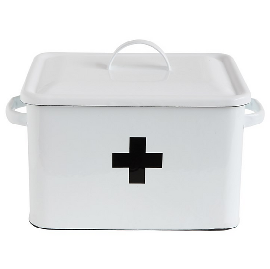 Enameled First Aid Box w/ Lid