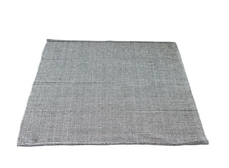 Cotton Woven Striped Rug, Brown