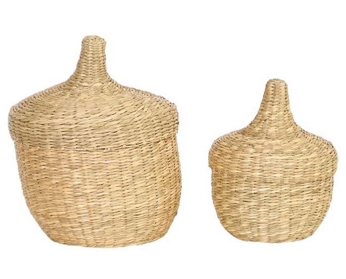 Seagrass Basket w/ Lids