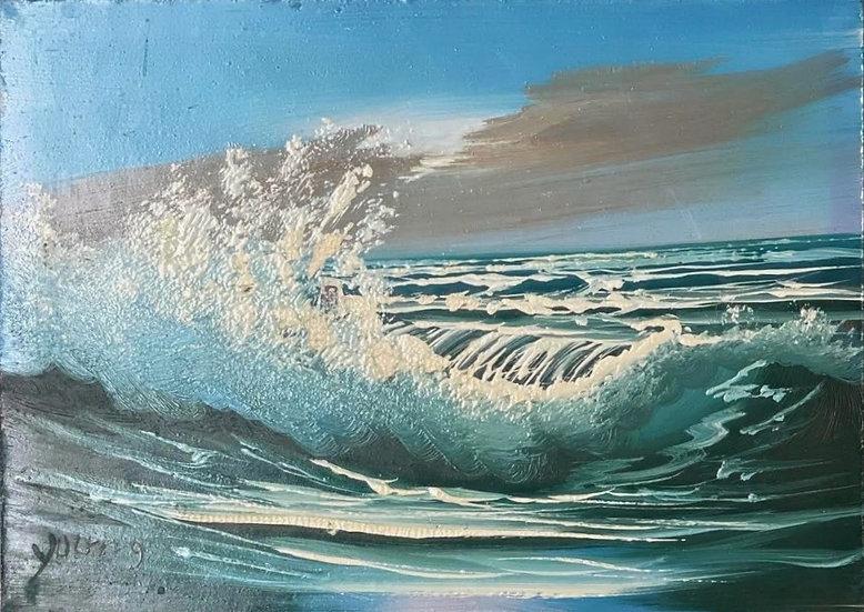 Vintage Ocean Painting