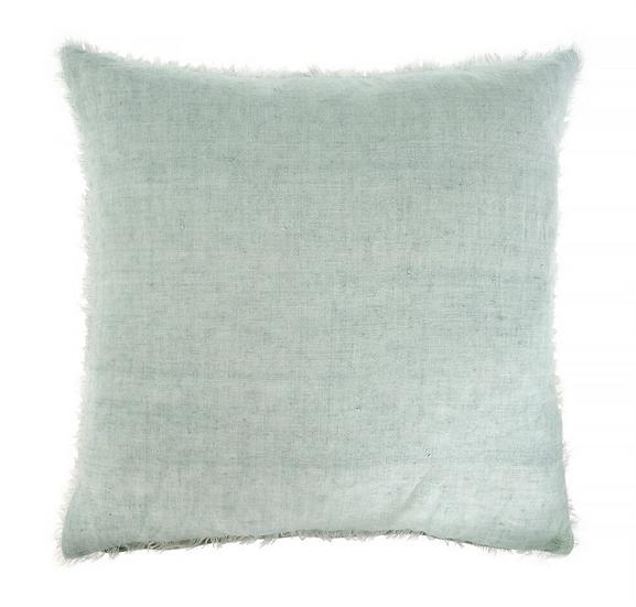 24x24 Linen Pillow, Mint