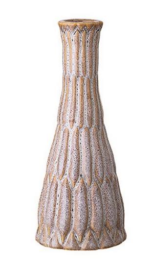 Stoneware Vase, Reactive Glaze, White