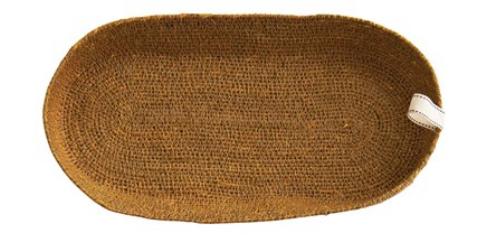 Decorative Woven Seagrass Baskets, Mustard