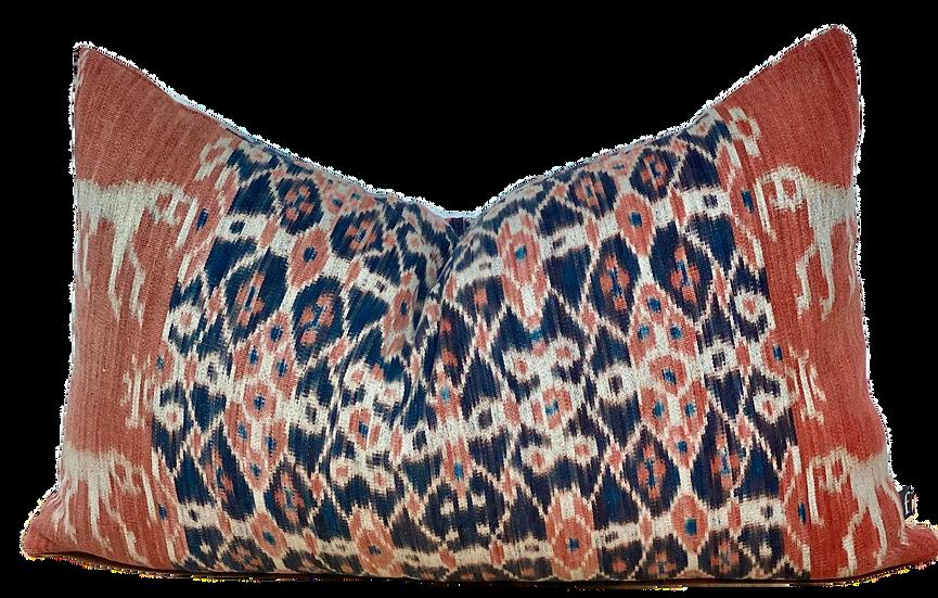 Ikat Lumbar Pillow