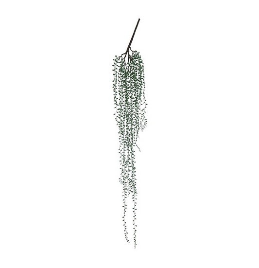Faux String of Greenery Pearls