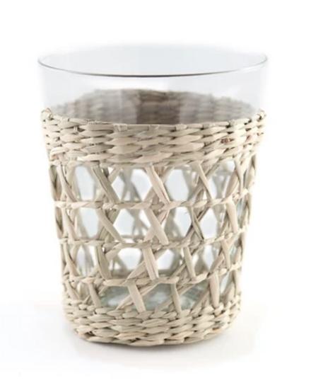 Seagrass Cage Small Tumbler Glass