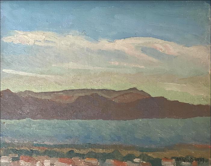 Vintage Island Painting