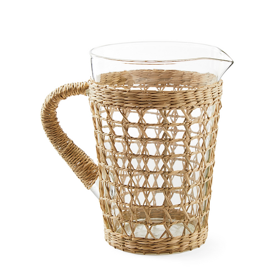 Woven Glass Pitcher