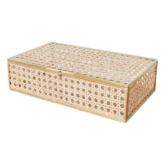 Natural Cane Large Wicker  Decor Box