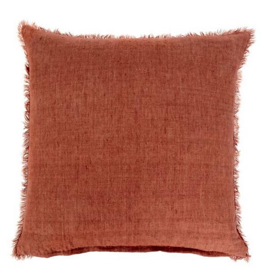 24x24 Linen Pillow, Rust