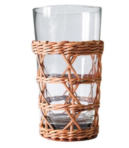 Rattan Cage Highball Glass
