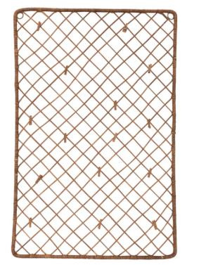 Wicker Weave Photo/Card Holder w/ 15 Wood Clips