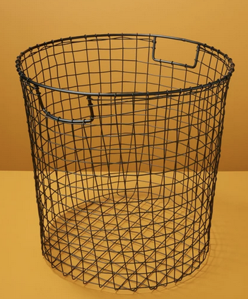 Black Wire Round Basket