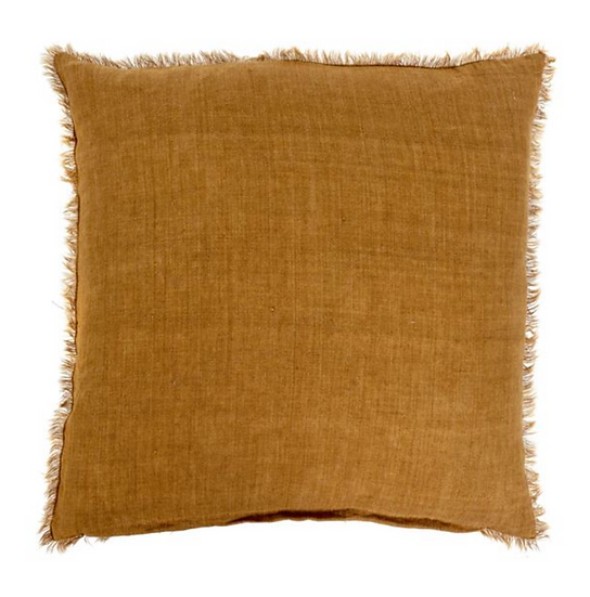 24x24 Linen Pillow, Gold