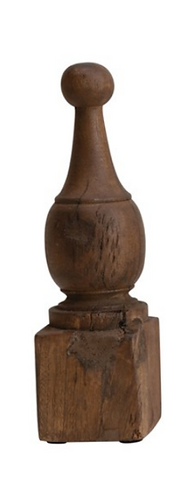 Hand-Carved Reclaimed Wood Finials