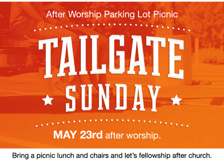 Come for worship and let's fellowship outside after.