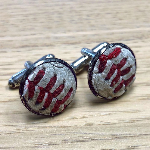 Game-Used Baseball Cuff-Links