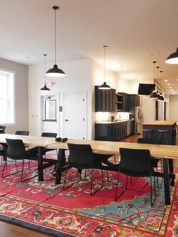 The Henry Building, Open Workstations and Kitchen/Meeting Space