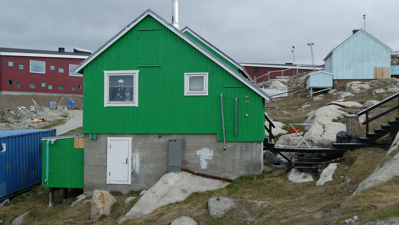 Hus i Ilulissat.